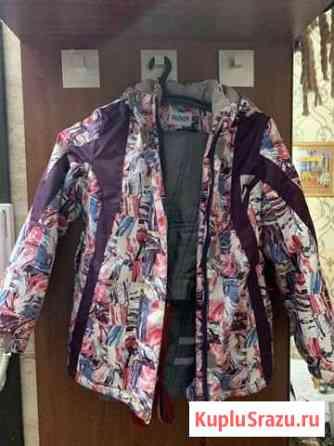 Куртка и комбинезон зимний девочка рост 140 Новый Уренгой