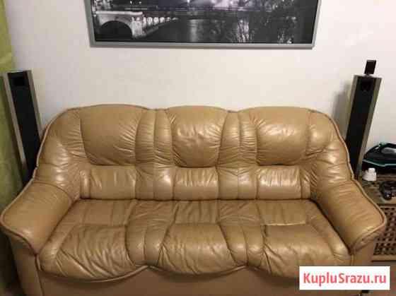 Кожаный диван Мурино