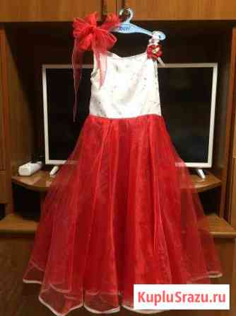 Платье красная роза Ленинградская