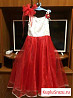 Платье красная роза