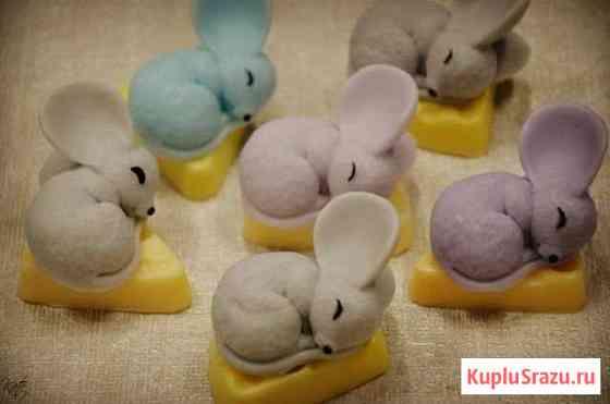 Мышка мыло ручной работы к Новому Году Обнинск