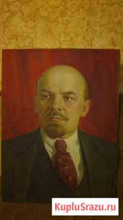 Портрет В. И Ленин 100х75 холст. масло Саранск