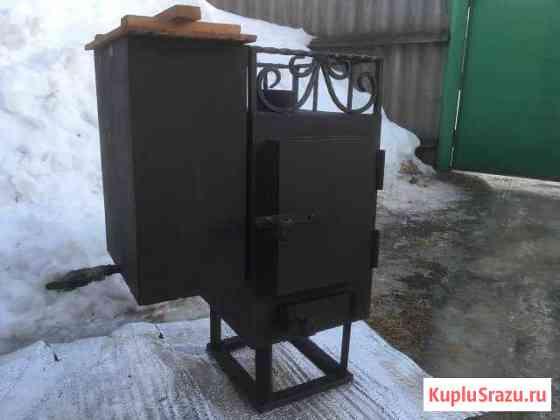 Печка с баком для бани (50 литров) Людиново