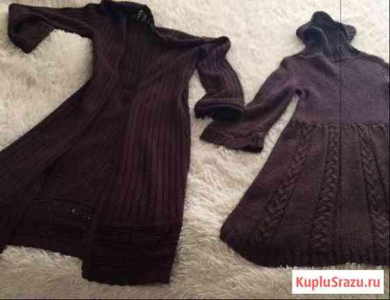 Вязаное пальто+ платье mango и тёплые вещи Орёл