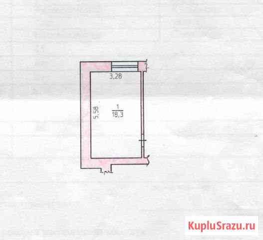 Комната 18.3 кв.м. в 1-к, 1/4 эт. Кудымкар