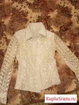 Белые красивые блузки для школы и праздников Пушкино