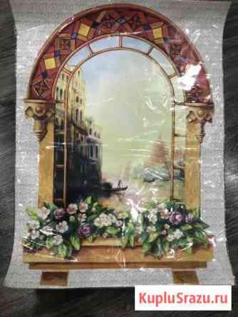 Наклейка на стену окно Венеция Киров