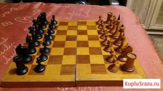 Шахматы деревянные винтажные,доска 40 на 40см, ссс Ялта
