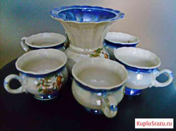 Кофейный набор, семь предметов (чашки и сливочник) Самара