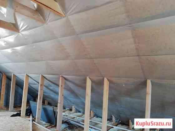 Утепление крыши дома, мансарды, потолка, пола минеральной ватой Краснодар
