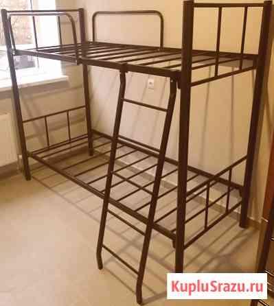 Кровати на металлокаркасе, двухъярусные, односпальные для хостелов Ставрополь