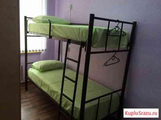 Кровати на металлокаркасе, двухъярусные, односпальные для хостелов Сочи