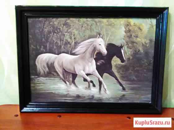"""Картина """"Пара лошадей"""" Самара"""