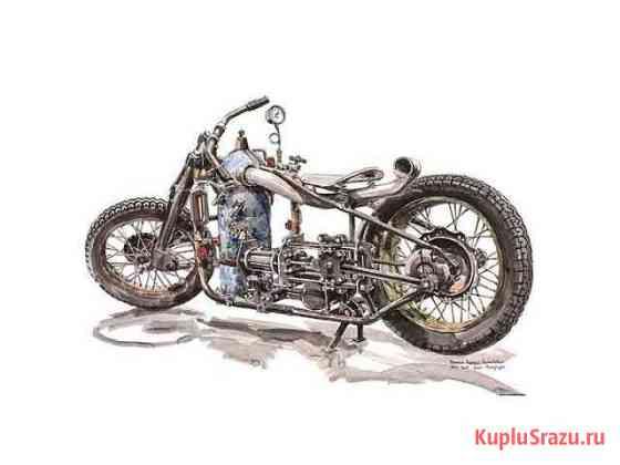 Паровой мотоцикл Ульяновка