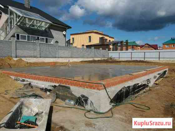 Бетонные и земляные работы.Фундамент Набережные Челны