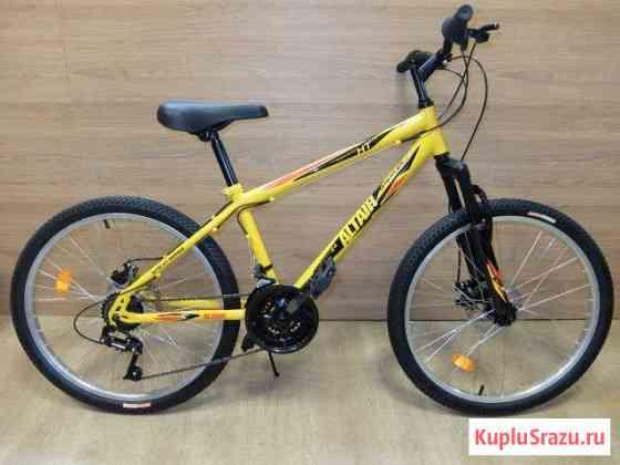 Велосипед подростковый 24 Altair MTB HT disc Желт Челябинск