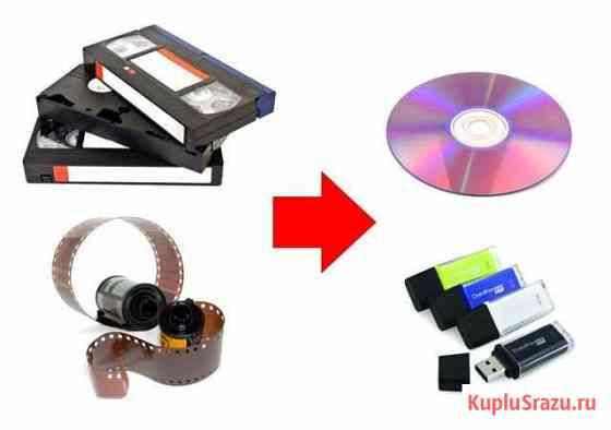 Оцифровка видеокассет VHS, 8мм и фотопленок 35мм Кызыл