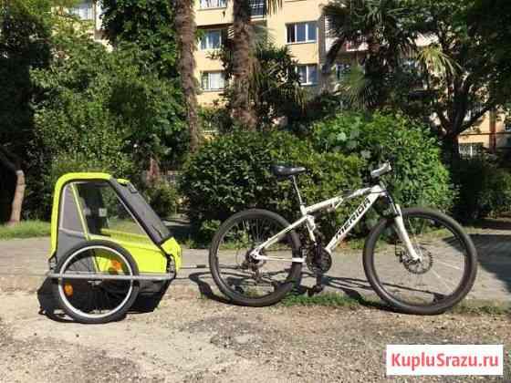 Аренда велосипеда с прицепом для детей Сочи