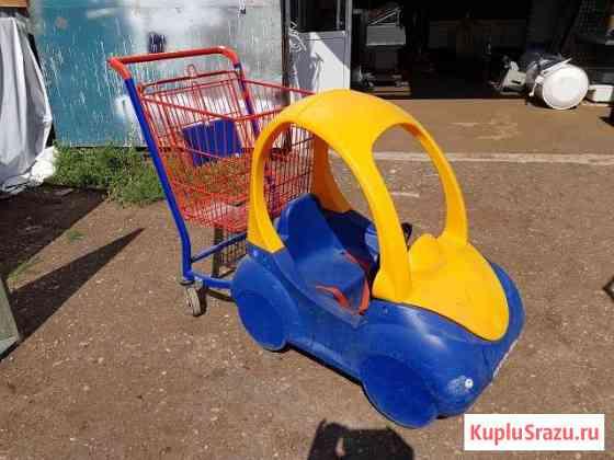 Тележка покупательская автомобильчик (беби-моиль) Уфа