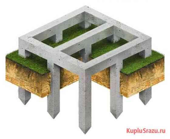 Фундамент на ж/б и винтовых сваях для коттеджей Стерлитамак