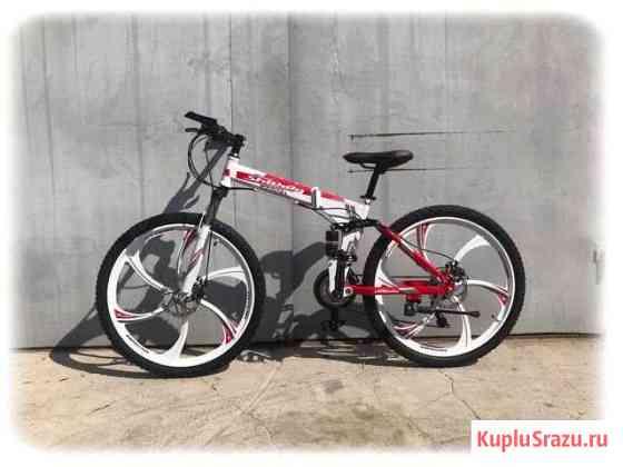 Новый складной горный велосипед на литых дисках Коломна