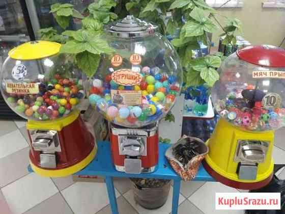 Механические автоматы по выдаче жвачки и мячей Керчь