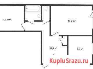 2-комнатная квартира, 53 м², 4/5 эт. Надым