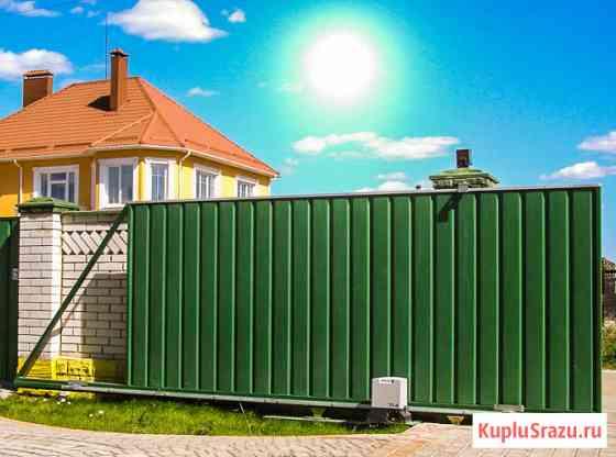 Откатные ворота в Павловском Посаде Павловский Посад