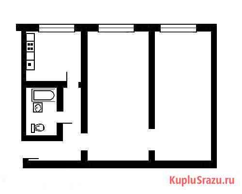 2-комнатная квартира, 44 м², 1/5 эт. Магадан