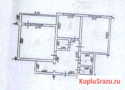 2-комнатная квартира, 53.9 м², 1/5 эт. Олекминск