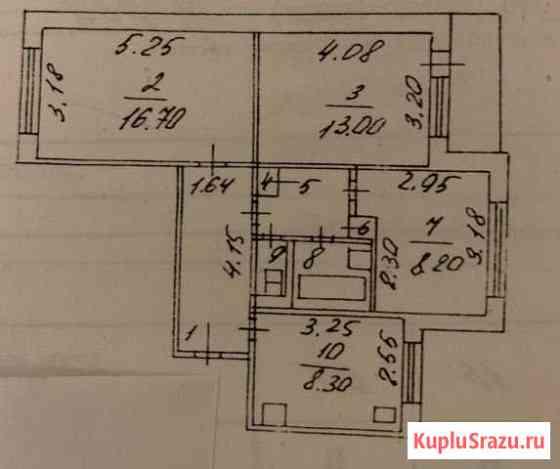 3-комнатная квартира, 60.5 м², 4/9 эт. Белгород