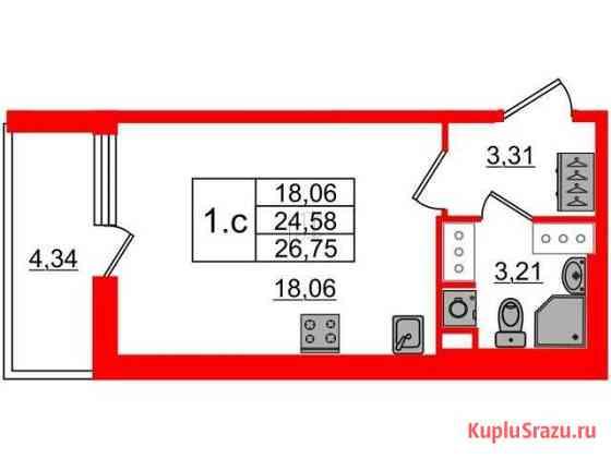 Студия, 24.6 м², 2/24 эт. Санкт-Петербург