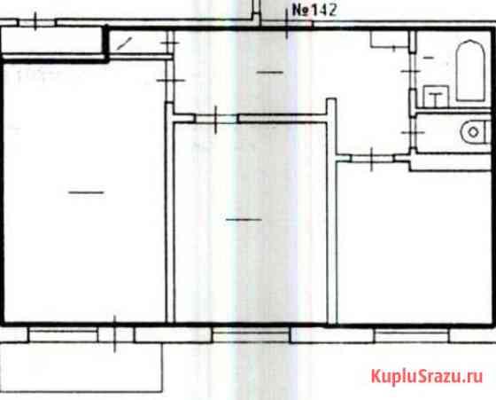 2-комнатная квартира, 51.6 м², 9/9 эт. Усинск