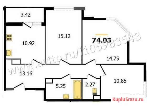 3-комнатная квартира, 74 м², 8/15 эт. Владимир