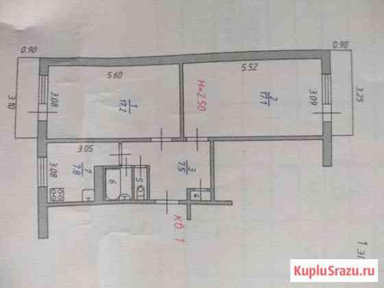 2-комнатная квартира, 53 м², 1/2 эт. Ново-Талицы