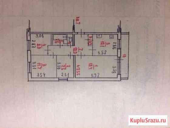 4-комнатная квартира, 74.9 м², 3/5 эт. Петрозаводск