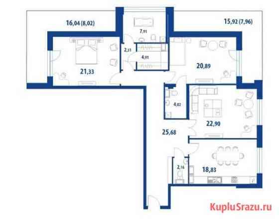3-комнатная квартира, 149.8 м², 3/6 эт. Санкт-Петербург
