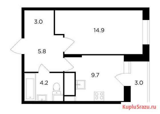1-комнатная квартира, 39.1 м², 2/17 эт. Мытищи
