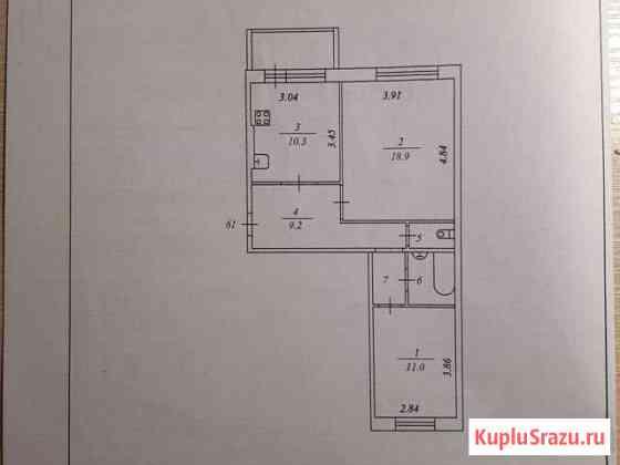 2-комнатная квартира, 56 м², 1/5 эт. Нижнесортымский