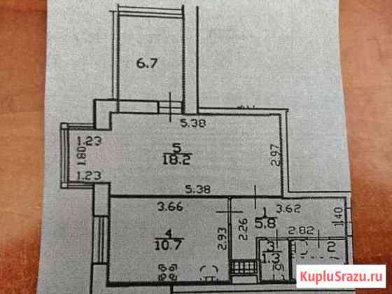1-комнатная квартира, 41 м², 6/26 эт. Санкт-Петербург