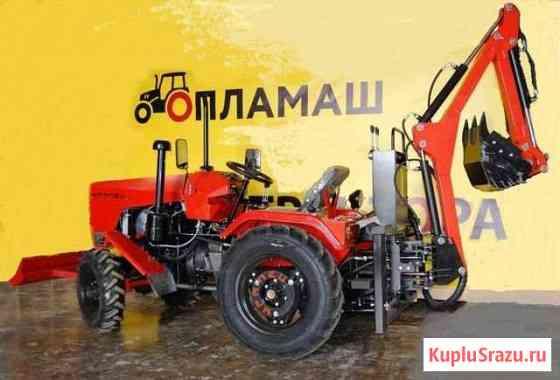 Трактор Уралец с экскаватором Москва