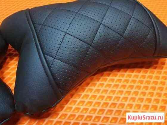 Подушка под шею Автопилот ромб, экокожа, чёрный Тула