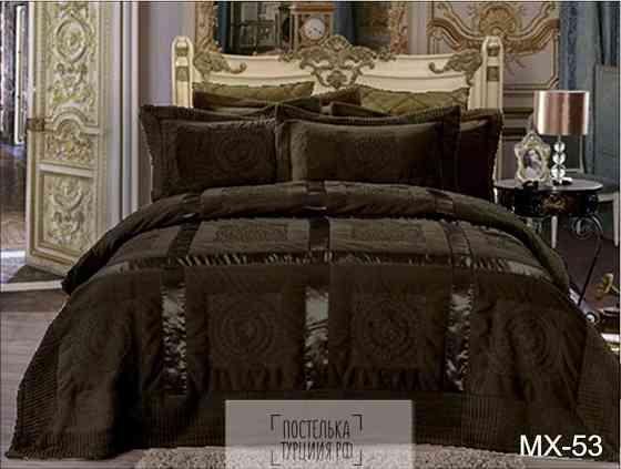 Плед-покрывало Версаче с атласной вставкой Москва