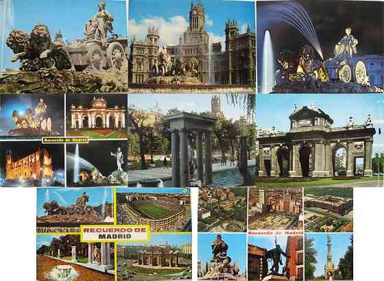 Открытки с видами Мадрида Москва