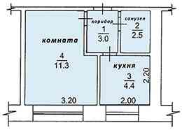 1-комнатная квартира, 22 м², 1/5 эт. Стрежевой