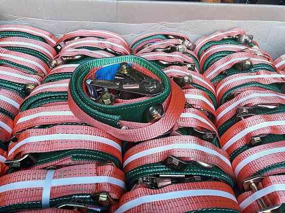 Автовоз Ремень крепления груза на автовоз 2-4 т резинотканевый контроллер, 3 м Москва