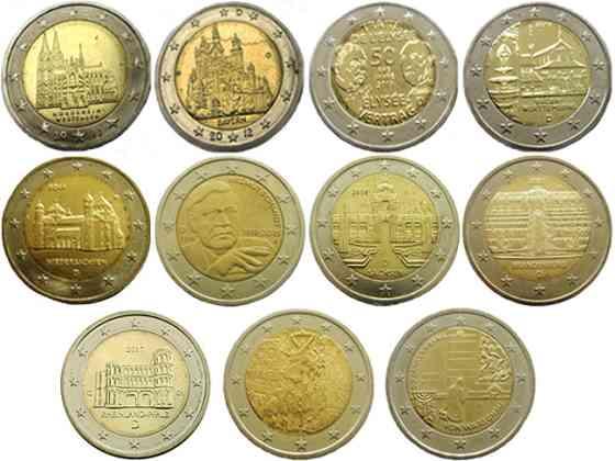 Немецкие юбилейные монеты 2 евро Москва