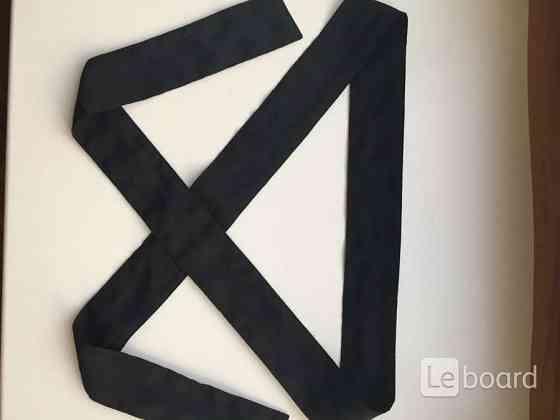Пояс лента ткань черная аксессуар на волосы голову ремень 12 см ширина украшение Москва